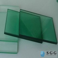 home decorative 10mm dark green toughened glass for table top