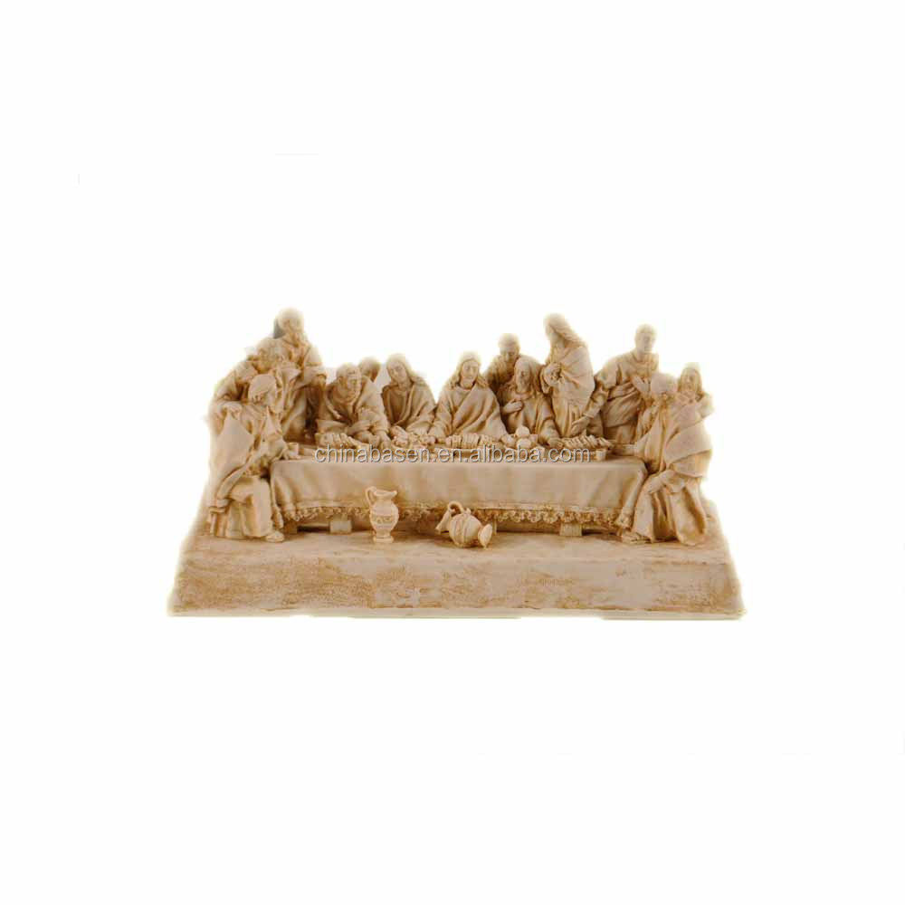 Religious resin ornament last supper figures