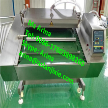 Nitrogen Filling Single/ Double Chamber Chicken Wings/potato chips Vacuum Packing Machinery