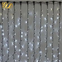 Multi color led curtain light decorative icicle star indoor outdoor light up decorations