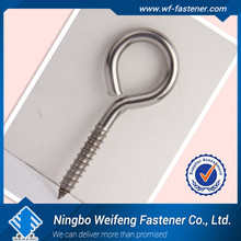 heavy duty anti-rust closed eye screw hook sharp & beautiful threading