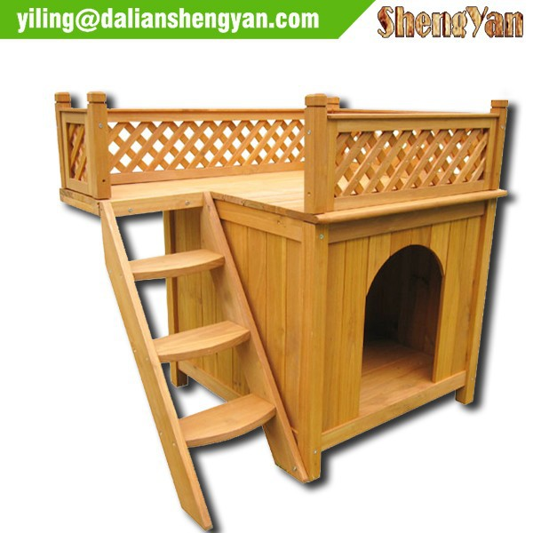 Out door weather resistant wooden dogs cats cages