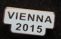 Vienna metal souvenir badge lapel pin