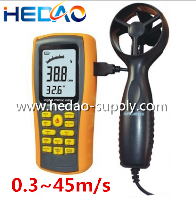 0.3~45m/s Portable Anemometer wind measuring instruments