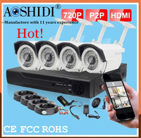 Good Price 4ch DVR with bullet cameras of hd dvr security camera system,720P digital cameras system