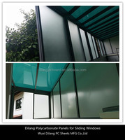 sound insulation high quality sliding polycarbonate window