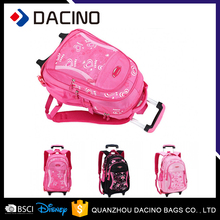 Lovely Girls School Backpack Wheeled Trolley Hand School Bags For Teens