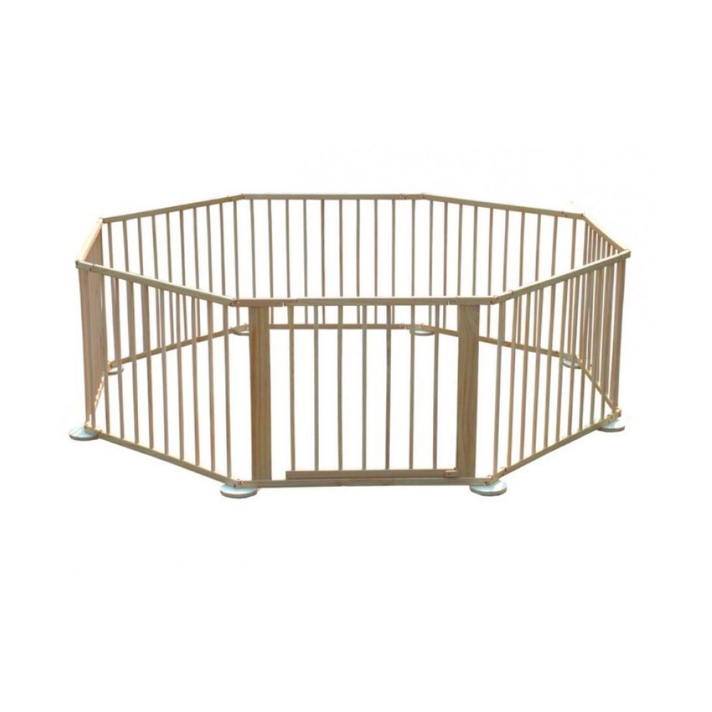 Foldable Baby Wooden Playpen 8 Sides