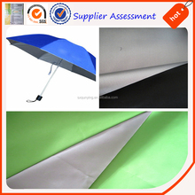 waterproof and anti uv fabrics light weight 55gsm umbrella material silver coated taffeta 100% polyester fabrics durable textile