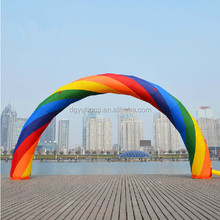 eyecatching sewed inflatable rainbow arch door for event