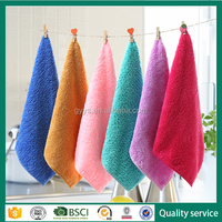 Gaoyang supplier high quality coral fleece table cleaning cloth for promotion