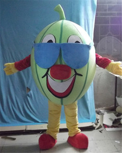 Factory direct sale watermelon fruit mascot costume with glasses adult watermelon mascot costume