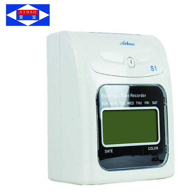 auto calculating working hours punch card time clock attendance machine