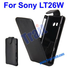 Leather Flip Protective Case for Sony Xperia acro S LT26W