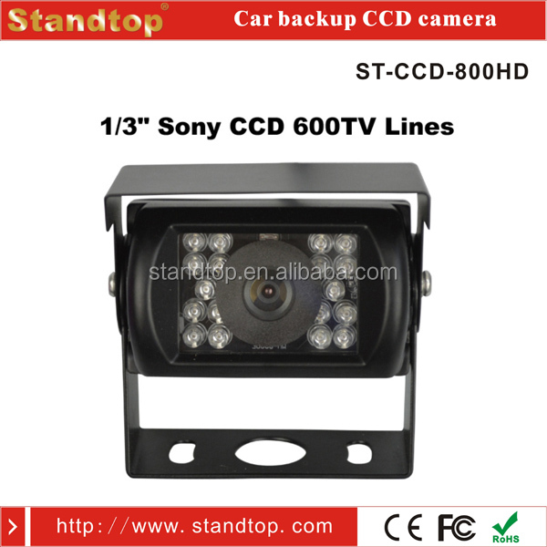 1/3 Sony CCD 18 pcs IR Light Waterproof Bus/Truck Rear View Camera