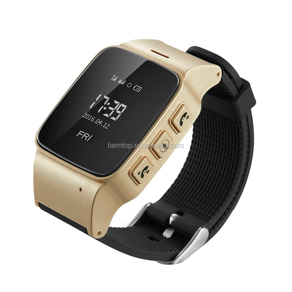 OLED Display Elderly Tracker Android Smart Watch Google Map SOS Wristwatch Personal GSM Wifi LBS GPS Tracker for old Safety