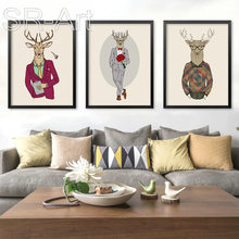 Nordic Style Modern Minimalist Decorative Painting Of The Living Room Children 's Room Painting Home Murals Of Cartoon Animals