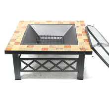 Outdoor Backyard Square Stove Fire Pit