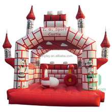 Popular Type Animated Cartoon Printing Kids Small Inflatable Toys Jump Bounce House for Amusement Park Center