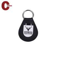 The Best Manufacturer Maker Cut Out Metal Leather Logo Shape Custom Made Metal Keychains