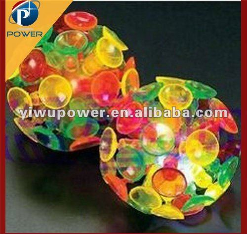 Colorful Sucker Ball, Popular Sticky Ball Toy, Fashion Kids Light Up Led Toy