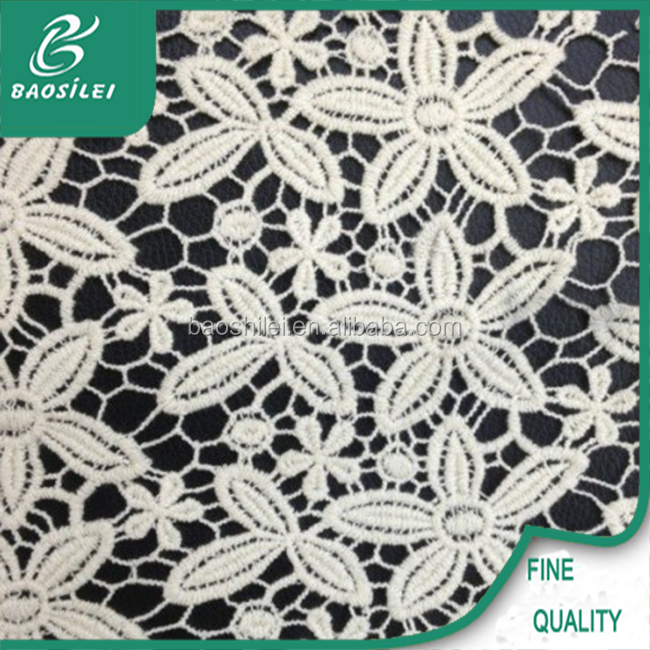 Embroidery tube organic lace wholesale cotton knit fabric