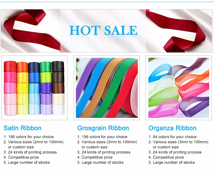 Yama ribbon factory manufacturer custom all kinds polyester satin ribbon/grosgrain ribbon