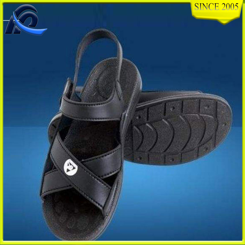 Factory Direct Sales Black Pu Cleanroom Esd Working Sandal From China