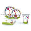 Birthday party paper sets napkin plate cup