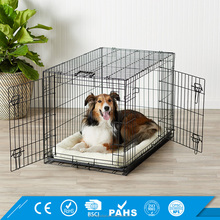 Heavy Duty Iron Dog Crate For Sale Folding Metal Dog Cage With Plastic Flooring