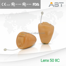Lenx 50 Three in one button Touch Technology Hearing Aid IIC with Sleep Mode