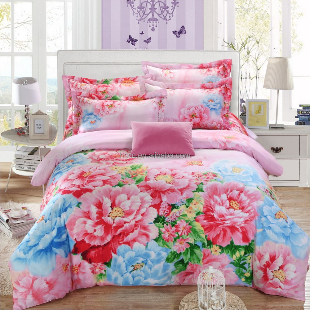 Autumn and winter denim textile wholesale luxury silk bedding set