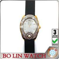 ladies/solid 316L stainless steel case/CNC natural diamonds/swiss movement/sapphire glass/genuine leather/IPG, watches swiss