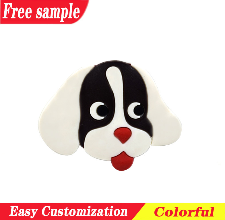 Vivid dog design PVC shoes charm