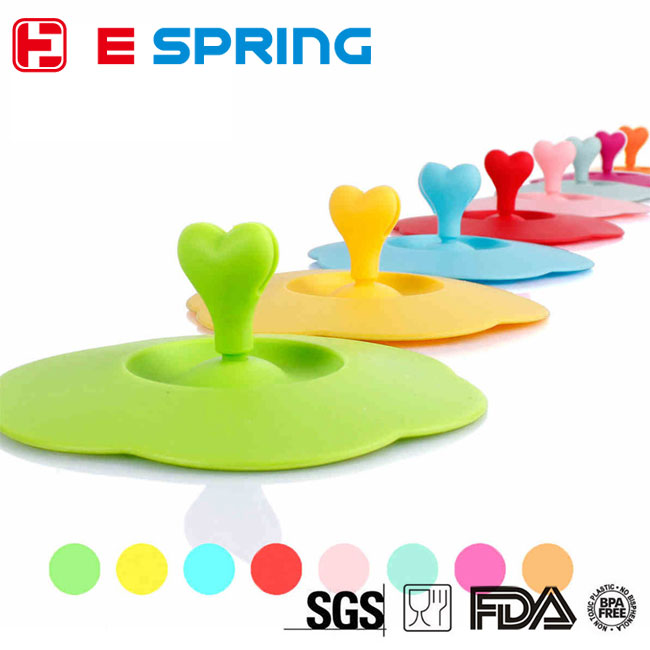 Creative Cute Love-heart Anti-dust Cup Cover Silicone Drinking Glass Cover