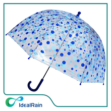 18inch manual open dome shape full over print kid clear umbrella