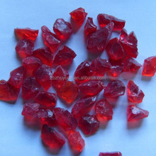 Decorative red crushed glass for swimming pool