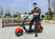 Oversea hot selling 1000w 2 big tire electric harley scooter with led headlight