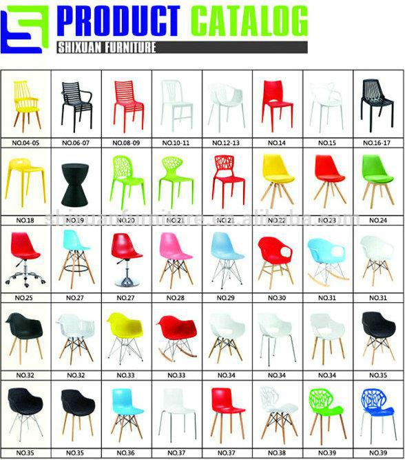 attractive modern leisure outdoor stackable plastic+chairs
