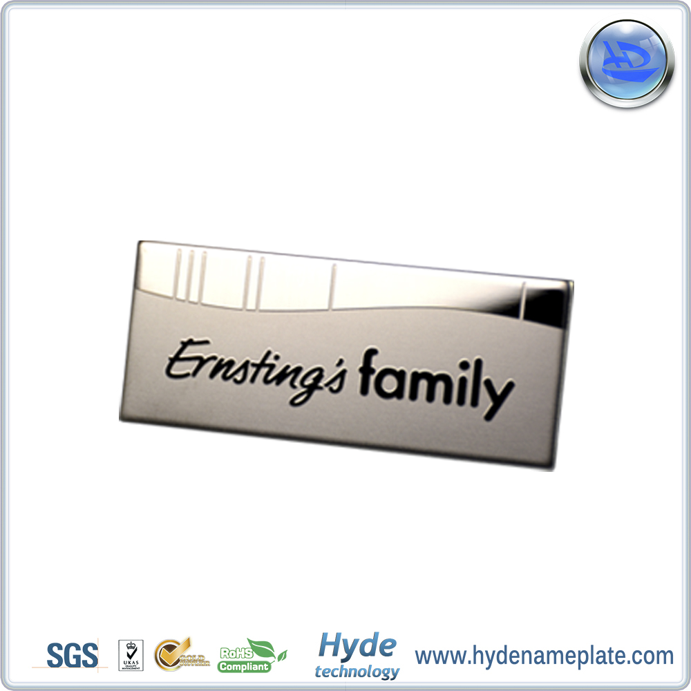 Wholesale Custom Engraved Metal Logo Plate Stainless Steel Logo Sticker