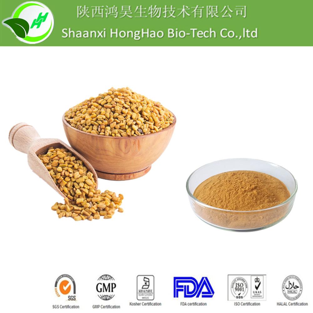 ISO/Kosher certified Natural 10:1 Yellow Brown Powder fenugreek powder extract