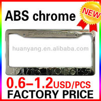 custom chrome plastic license plate frames