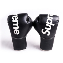 cheap Lace up martial arts boxing gloves leather from China