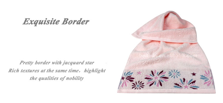 Popular Russia 100% cotton jacquard terry towel with embroidery