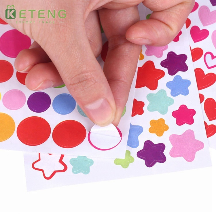 Promotional die-cut removable full color custom paper stickers