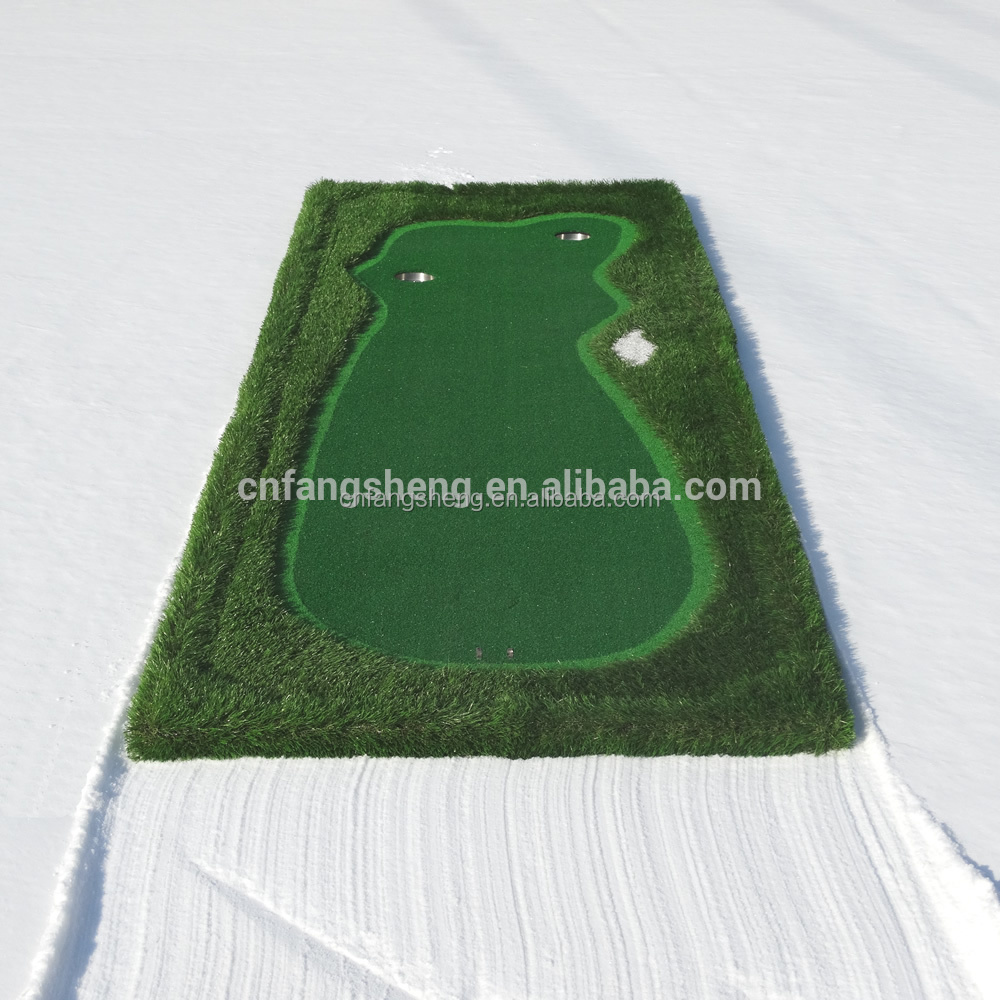 golf putting mat/golf swing trainer/golf training aids golf commerical practice mats knitted golf driving range mat