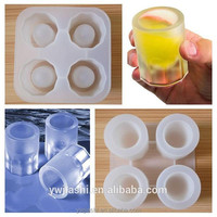 Silicone Shooters Ice Cube Shot Glass Freeze Ice Cup Mold