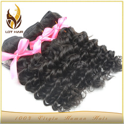High Qualitiy No Chemical double weft 6A raw indian remy human hair weave wholesale