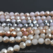 Wholesale coating color Crystal round faceted glass beads in bulk from China Crystal Manufactory