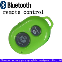 Green colour bluetooth remote control for mobile phone keychain use easy carry wireless control